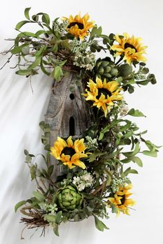 Primitive Decor Front Door Decor Rustic Decor by FloralsFromHome