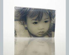 Hope by J Dean:  Kilncast glass with photographic decal and silkscreen print
