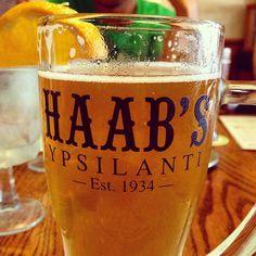 Glug, glug, glug, glug.  Ice cold brew at Haab's in Ypsilanti.