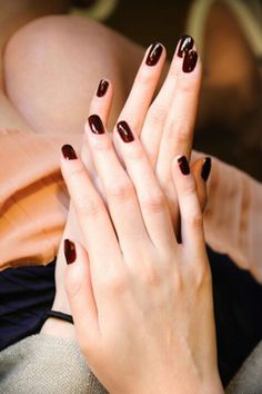 Oxblood nails