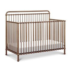 Inspired by vintage American metal cribs, the Winston Convertible Crib from Million Dollar Baby Classic is crafted from iron with simple curves and classic metal casting at the joints. Converts to a toddler bed and daybed as your child grows. Iron Crib, Sophisticated Nursery, 4 In 1 Crib, Vintage Crib, Convertible Crib, Vintage Country, French Country, Baby Grows, Baby Decor