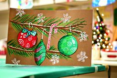 Pretty cool pastel Christmas drawing...I may have to replace my snow globe project with this one this year!