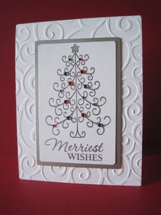 Merriest Wishes tree card