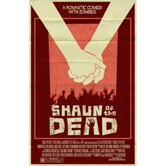 Shaun of the Dead vintage style movie poster by TeamWelser on Etsy, $20.00