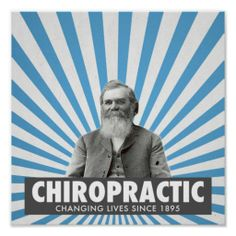 Chiropractic poster - D.D. Palmer