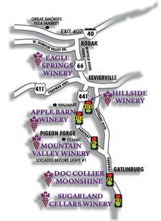 Rocky Top Wine Trail map