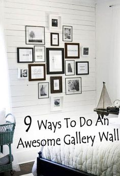 <p>1.+Mix+photos,+art,+and+other+trinkets+for+an+eclectic+eye-catcher.+2.+Pick+a+color+scheme+that+ties+all+of+the+frames+together.+3.+Skip+frames+and+create+a+gallery+wall+around+a+theme.+4.+Add+your+children's+framed+art+work+forsome+filler+pictures.+5.Save+time+and+space+by+layering+…</p>