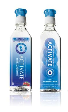 Turbine-Topped Bottles - Activate Vitamin Water Packaging Embodies the Vitality of the Beverage (GALLERY)