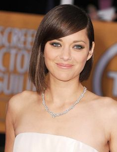 Marion's simple bob complete with spring/summer's hottest side parting is glossy perfection.  The SAG Awards 2013: Best in Beauty | ELLE UK