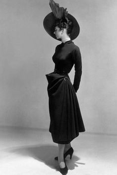Dress by Christian Dior, 1948 (New Look Style) Photo at AllPosters.com