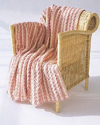 Arrow Stitch Crochet Afghan | AllFreeCrochet.com