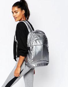 Image 3 ofNike Metallic Silver Backpack