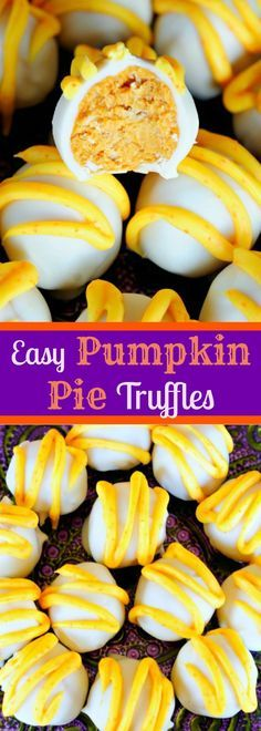 Easy Pumpkin Pie Truffles - These are INSANE! SO so so good!