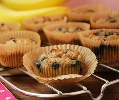 Banana blueberry paleo muffins