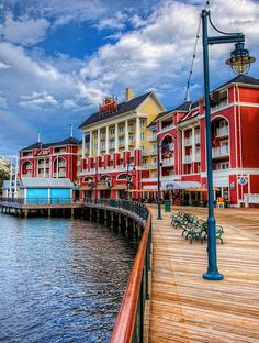 Disney's Boardwalk! One of the best parts of staying at the Swan is being able to walk to Epcot ... and not only that, THIS is your scenery! I'll take that over a cramped bus-ride any day. :D