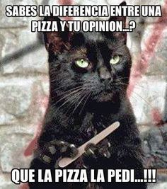"""Trans; """"Do you know the difference between a pizza and your opinion?....I asked for the pizza!"""""""