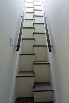 great stairs for steep, narrow space - I hope there is storage in each of those steps!!