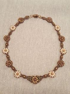 Girasoli e margherite collana di perline floreale di SpinPlanet