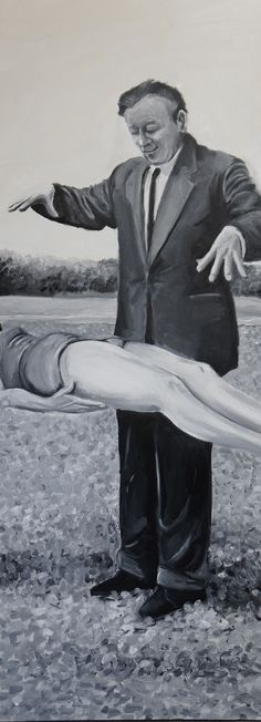 "Priscilla de Paula ""Meios hábeis"" (2015) Oleo s/ tela 70x 180 cm 180, Contemporary Paintings, Abraham Lincoln, Artwork, Tela, Pintura, Work Of Art, Auguste Rodin Artwork, Artworks"