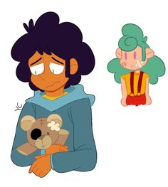 yam-cham: nikki sees that max is feeling down so she draws him a picture of his bear to cheer him up