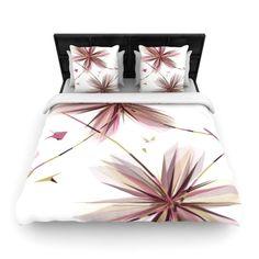 Flower Woven Comforter Duvet Cover