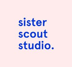 Brand wordmark logo for Sister Scout Studio. By Amber Ladd.