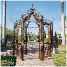 Wrought Iron Flower Arbor Garden Gazebo Trellis