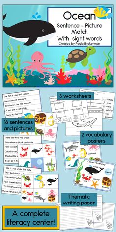 What a fun way to practice sight words!  My kids will love the ocean animals, and the vocab posters are awesome! TpT$