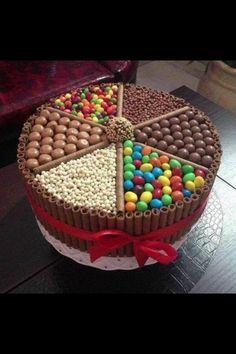 Chocolate sponge sweetie cake. Mmmm...