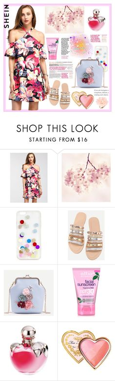 """Shein"" by natalyapril1976 ❤ liked on Polyvore featuring Marmont Hill, ban.do, WithChic, Alba Botanica, Nina Ricci, Too Faced Cosmetics and Dettagli"