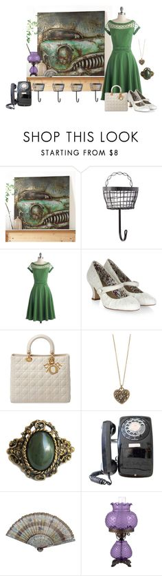 """""""Vintage Cars"""" by barebear1965 ❤ liked on Polyvore featuring Bettie Page, Monsoon, Christian Dior, Accessorize, Universal Lighting and Decor, vintage, women's clothing, women's fashion, women and female"""
