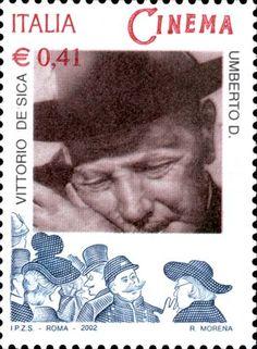 Italy Stamp 2002 - Vittorio de Sica in Umberto D.