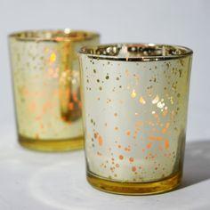 Mercury Glass Votive Tealight Candle Holder  by PaperLanternStore