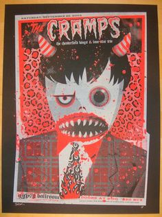 The Cramps w/ The Chesterfield Kings and Lone Star Trio - silkscreen concert poster (click image for more detail) Artist: Todd Slater Venue: Gypsy Ballroom Location: Dallas, TX Concert Date: 9/26/2004