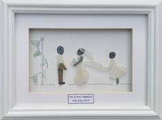 Sea Glass & Stone Wedding Day Portraits. Find me on facebook @Cornwallpebbleart