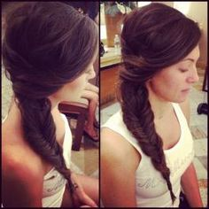 Elegant Side Fishtail Plait
