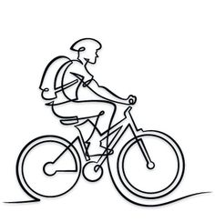 187 best bicycles etc images in 2019 cycling art bicycle art 2009 Mercury Milan White Suede bike clipart line drawing 2464891