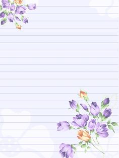 Flower Lined Writing Paper - Bing images Printable Lined Paper, Free Printable Stationery, Journal Paper, Journal Cards, Lined Writing Paper, Art Carte, Notebook Paper, Stationery Paper, Letter Stationery