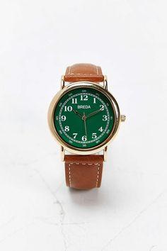 Breda 1682 Classic Green Face Watch