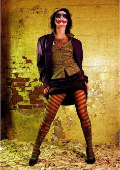 Striped tights + Vest, Minus Joker Face