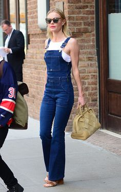 Kate Bosworth's Frame Denim overalls. See 5 other celebrities whose spring outfits killed it.