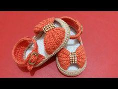 55 Super Ideas For Baby Crochet Sandals Newborns Baby Knitting Patterns, Baby Booties Knitting Pattern, Baby Shoes Pattern, Crochet Baby Sandals, Crochet Bows, Häkelanleitung Baby, Baby Bows, Bow Shoes, Bow Sandals