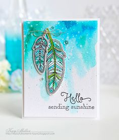 Sending Sunshine Card by Kay Miller for Papertrey Ink (March 2016)