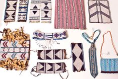 south african laduma ngxokolo shared his fashion collection, which interprets xhosa beadwork aesthetics into a range of men's knitwear for amakrwala. Xhosa Attire, Moda Blog, African Beads, African Jewelry, Ethnic Jewelry, Seed Bead Earrings, Loom Beading, Cool Patterns, Bead Weaving