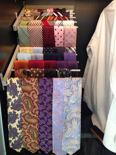 How cool is this storage solution for ties.