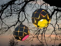 Colorful geometric circular lighting from Bysteel, the Outdoor Interior Design Factory.