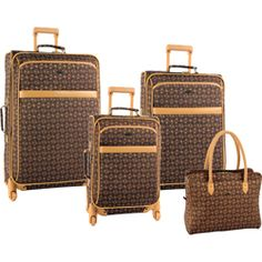 Pierre Cardin Revolution 4 Piece Spinner Luggage Set: Available in 2 Colors For $159.95 plus Free Shipping