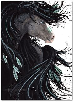 Majestic Horses 138 Dreams War Paint Spirit by AmyLynBihrle