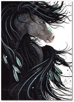Majestic Horses 138 Dreams War Paint Spirit by AmyLynBihrle