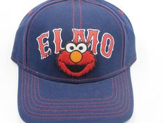 Sesame Street Elmo Red Sox Style Blue Youth Childrens Size Snapback Hat Cap  #Bioworld #BaseballCap  #Sesame Street Elmo Red Sox